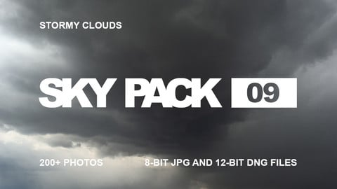 Sky Pack 09 / Stormy clouds reference pack