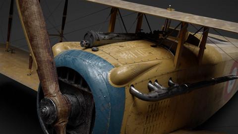 Spad VII - WW1 Aircraft [ Model & Texture ]