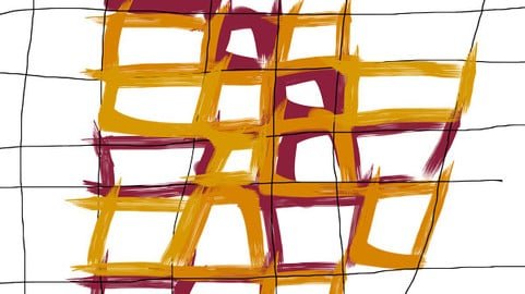 Lines as a pattern with warm colors No. 1