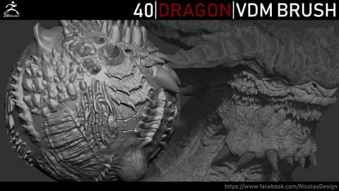 Zbrush - Dragon VDM Brush