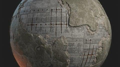Concrete bunker wall