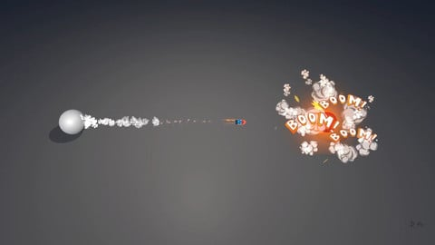 Cartoon Missile and Explosion VFX