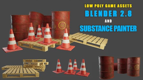 Modeling and texturing low poly game assets using Blender 2.8 and Substance Painter [Part 1]