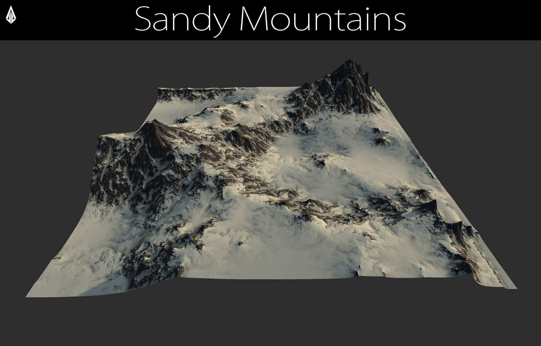 Jose Vega - Terrain - 3 Sandy Mountains Height maps / Models
