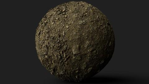 PBR Scanned Rocky Soil