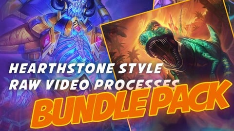 Hearthstone style illustrations (Raw process videos) - Total 63 Hours