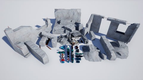 Garbage and Destroyed Buildings PBR 8K