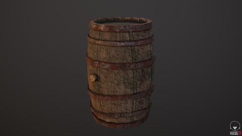 Medieval Wine Barrel Sample of The Dwarf Dungeon
