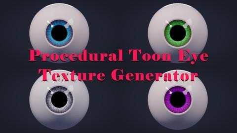 Procedural Toon Eye Texture Generator