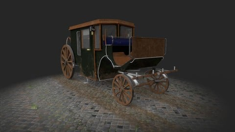 Brougham Horse Drawn Carriage