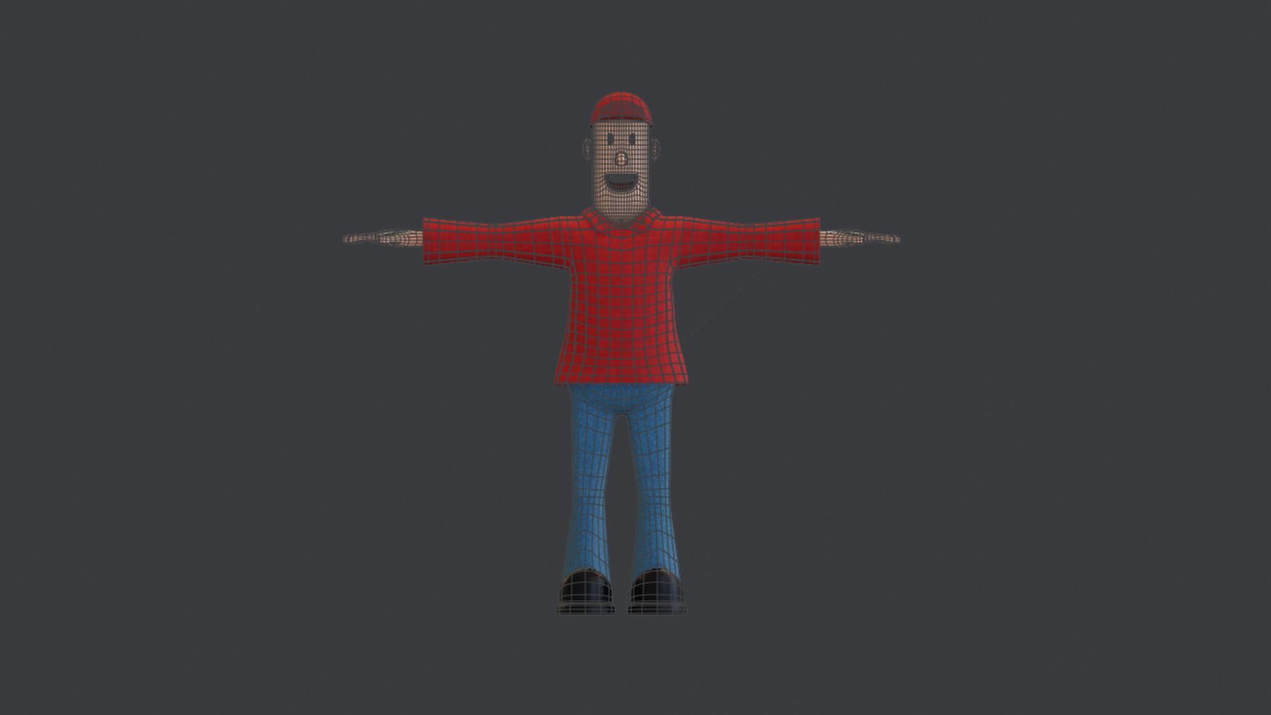 Omar Bassam - Simple Cartoon Character Low-poly 3D model