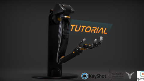 Rendering a mech arm from moi to keyshot