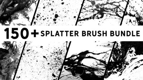 150+ Photoshop Splatter Brush Bundle