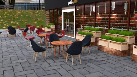 Architecture 3D Models Coffee Shop