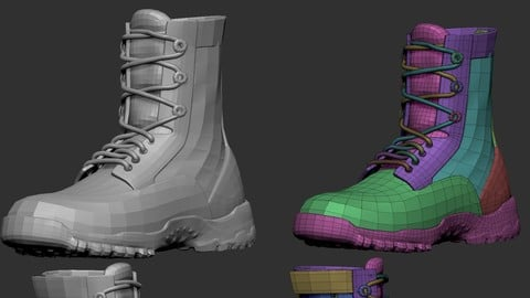 MILITARY BOOT | ZBRUSH FILE