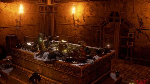Medieval Fantasy Dwarf Treasure Room
