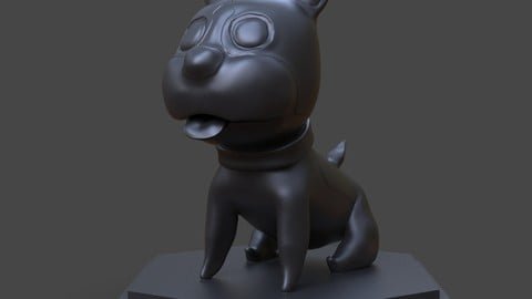 Maron The Cute Dog 3D Print