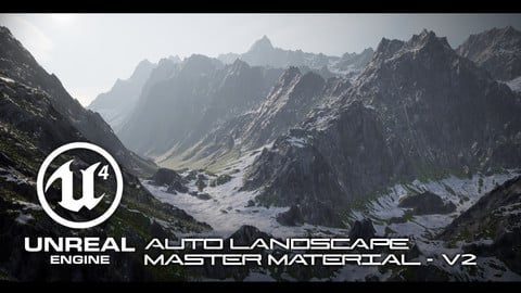UE4 Auto Landscape Master Material Pack (Studio License - Over 100k in Revenue)