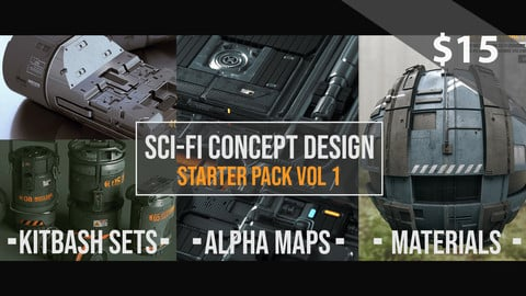 Sci-Fi Concept Design Starter Pack Vol 1