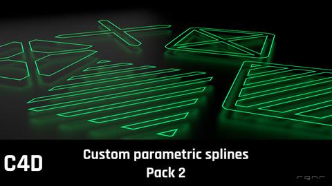 Custom parametric C4D splines pack 2