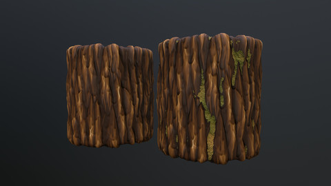 Stylized bark material (2x variants)