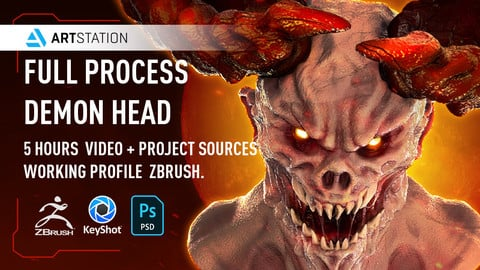 Demon Head Drawing and Sculpting Process