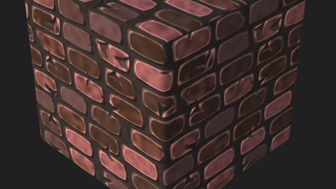 Stylised Brick Material [Easily Editable]