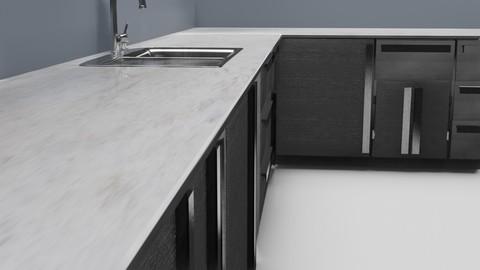 Low Poly Kitchen Grey
