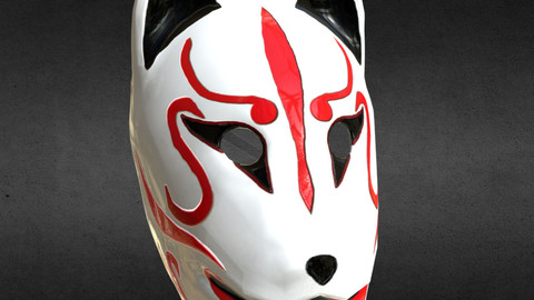 Japanese Kitsune Fox Mask