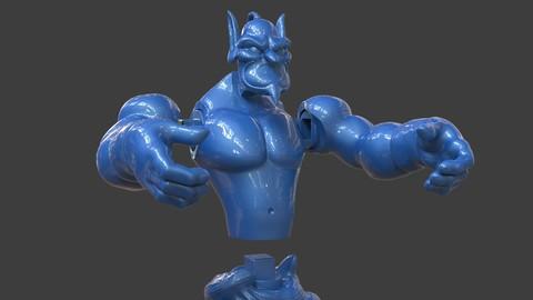 Aladdin's Genie Evil Mode (Separate Parts)