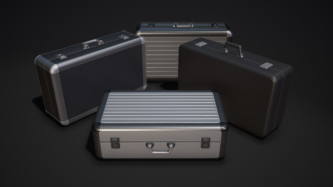 Metal Briefcase - Low & High Poly