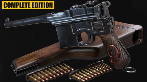Handgun Tutorial Complete Edition - Learn 3D Studio Max, Zbrush, Substance Painter