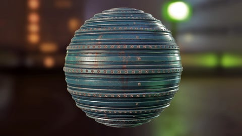 Corrugated Plate PBR Material
