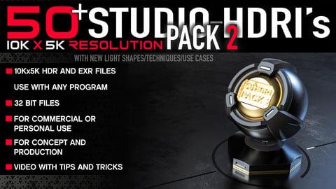 50+ High Quality Studio HDRI PACK 2