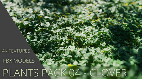 3D Plants Pack 03 - Clover