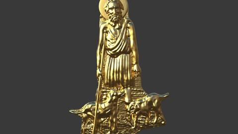San Lazarus Carved Sculpt