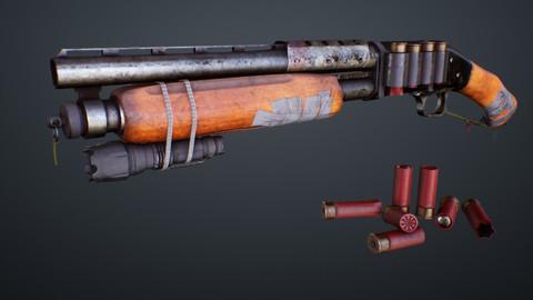 Short Barrel Apocalyptic Shotgun