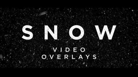 Snow Overlay Loops - 4K Video Pack