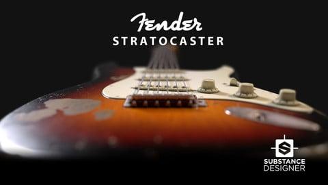 Early 60's Fender Stratocaster Guitar Substance Designer