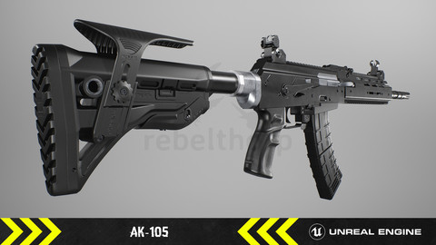 AK105 - Animated FPS Weapon [ Unreal Engine ]