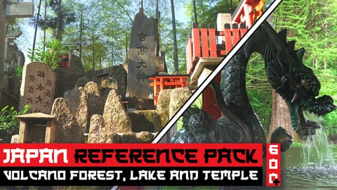 Japan Volcano Forest, Yamanakako Lake, and Forest Temples