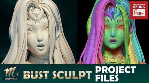 Scoprisia Bust Sculpt Project Files