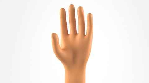 A Realistic 3D Model of a Man Hand