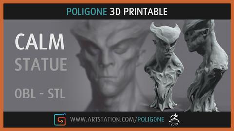 CALM Statue - 3D Printable