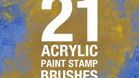 21 Acrylic Paint Stamp Brushes