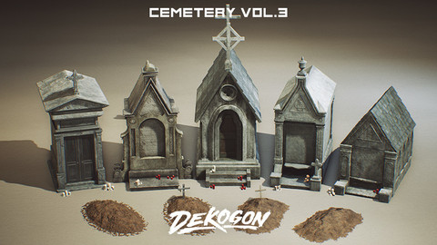 Cemetery Props VOL.3 [UE4+RAW]