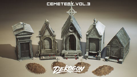 Cemetery Props VOL.3 [UE4+RAW]