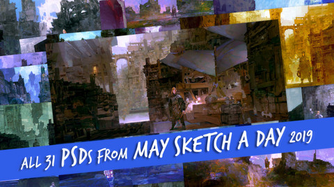 All 31 PSDs from May Sketch a Day 2019