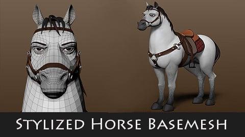 Stylized Horse Basemesh