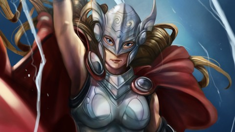 Thor Jane Foster Fan Art /PSD file /Time-Lapse Video